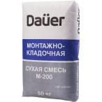 DAUER Сухая смесь М-200 Монтажно-кладочная