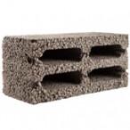 Блок керамзитобетонный с 4 продольными пустотами М25